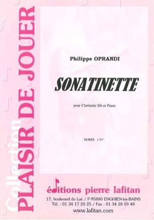 Sonatinette Philippe Oprandi Partition Clarinette - laflutedepan