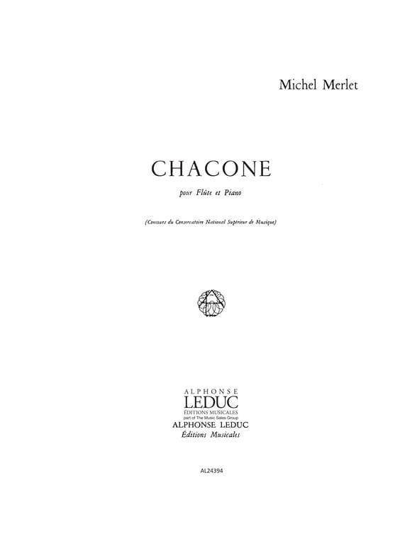 Chacone - Michel Merlet - Partition - laflutedepan.com