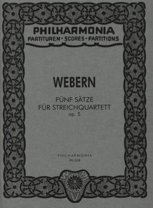 5 Sätze für Streichquartett op. 5 - Partitur - laflutedepan.com