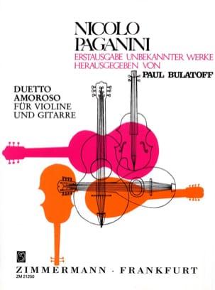 Duetto Amoroso - Violine Gitarre PAGANINI Partition 0 - laflutedepan