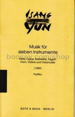 Musik für sieben Instrumente - Partitur - Isang Yun - laflutedepan.com