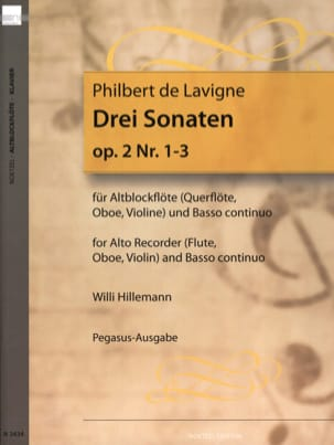 3 Sonaten op. 2 - Nr. 1-3 - Altblockflöte u. Bc laflutedepan