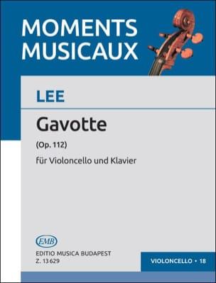 Gavotte op. 112 Sebastian Lee Partition Violoncelle - laflutedepan