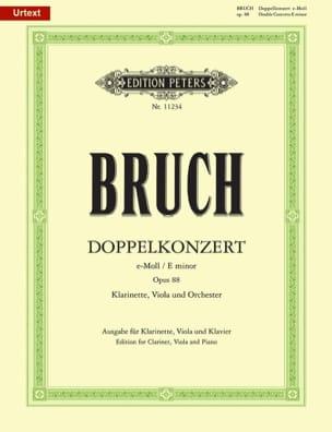 Double Concerto Opus 88 en Mi Mineur BRUCH Partition laflutedepan