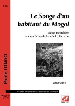 Le Songe d'un habitant du Mogol Paolo Longo Partition laflutedepan