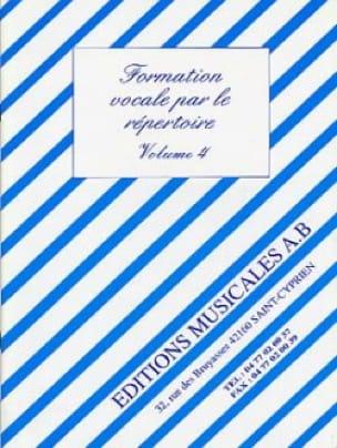 Formation Vocale par le Répertoire Volume 4 - laflutedepan.com