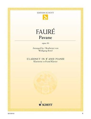 Pavane Op. 50 - FAURÉ - Partition - Clarinette - laflutedepan.com
