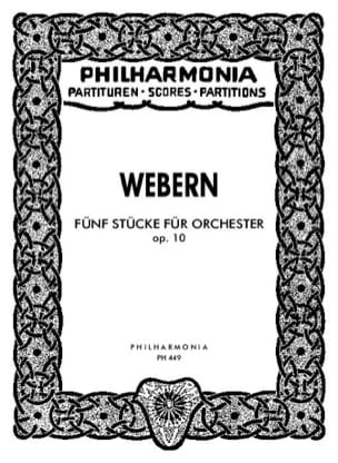 5 Stücke für Orchester op. 10 - Partitur WEBERN Partition laflutedepan