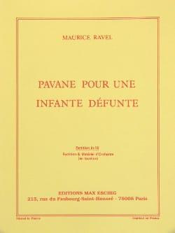 Pavane pour une infante défunte - Conducteur RAVEL laflutedepan
