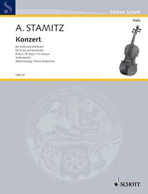 Concerto, Si bémol majeur - Alto STAMITZ Partition Alto - laflutedepan