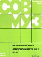 Streichquartett Nr. 2 op. 68 - Stimmen CHOSTAKOVITCH laflutedepan