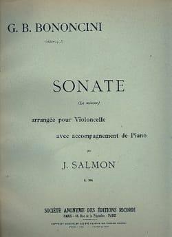 Sonate en la mineur Giovanni Battista Bononcini Partition laflutedepan