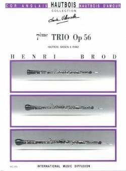 Trio Opus 56 Henri Brod Partition Trios - laflutedepan