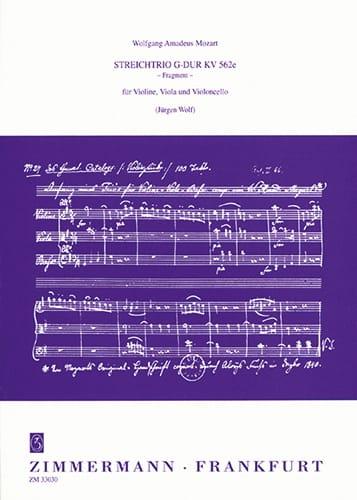 Streichtrio G-Dur Fragment KV 562e -Partitur + Stimmen - laflutedepan.com