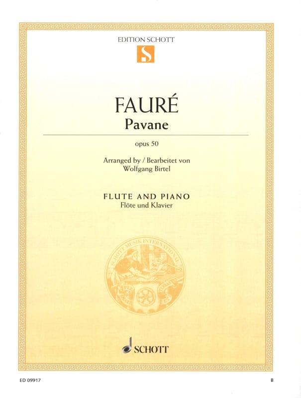 Pavane Op. 50 - Flute - FAURÉ - Partition - laflutedepan.com
