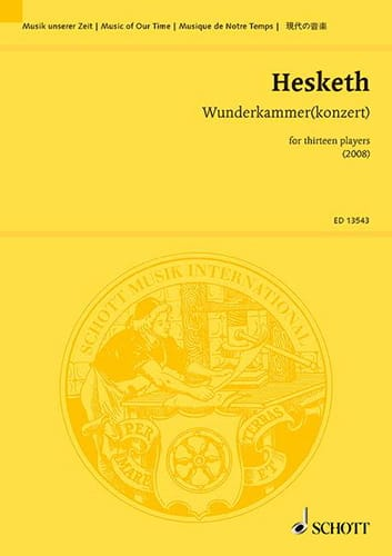 Wunderkammerkonzert - Kenneth Hesketh - Partition - laflutedepan.com
