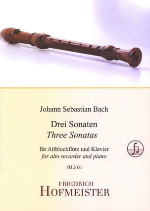 3 Sonates Pour Flûte A Bec Alto BACH Partition laflutedepan