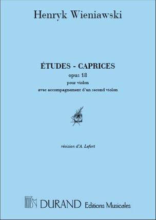 Etudes-Caprices op. 18 WIENAWSKI Partition Violon - laflutedepan