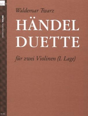 Händel Duette HAENDEL Partition Violon - laflutedepan