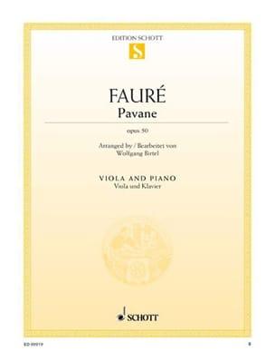 Pavane Op. 50 - Alto FAURÉ Partition Alto - laflutedepan
