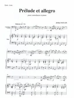 Prélude et Allegro Jérôme Naulais Partition Contrebasse - laflutedepan