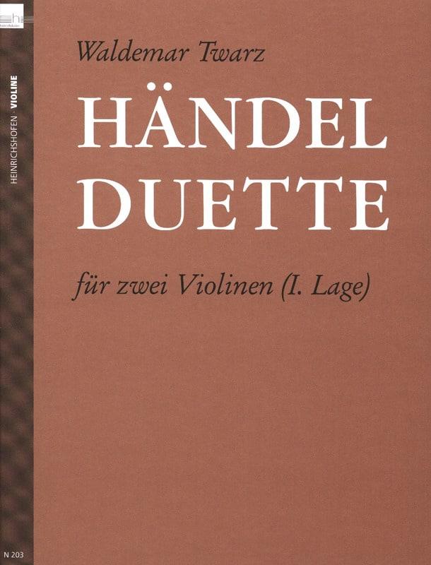 Händel Duette - HAENDEL - Partition - Violon - laflutedepan.com