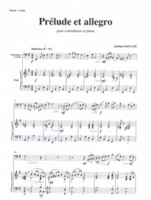 Prélude et Allegro - Jérôme Naulais - Partition - laflutedepan.com