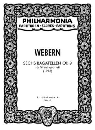 6 Bagatellen op. 9 - Partitur WEBERN Partition laflutedepan