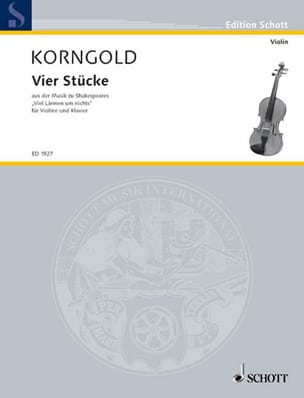 4 Stücke KORNGOLD Partition Violon - laflutedepan