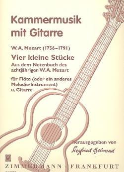 4 Kleine Stücke -Flöte Gitarre MOZART Partition Duos - laflutedepan