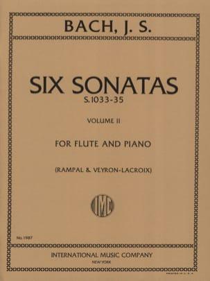 6 Sonatas - Volume 2 - Flûte piano BACH Partition laflutedepan
