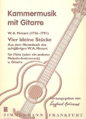 4 Kleine Stücke -Flöte Gitarre - MOZART - laflutedepan.com