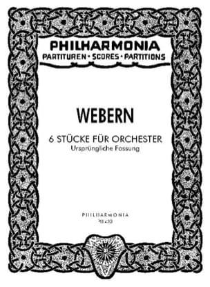 6 Stücke Für Orchester Op. 6a - Urspr. Fassung - Partitur laflutedepan