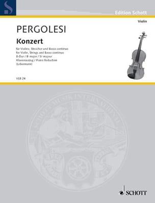 Violin-Konzert B-Dur PERGOLESE Partition Violon - laflutedepan