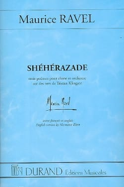 Shéhérazade - Conducteur RAVEL Partition Grand format - laflutedepan