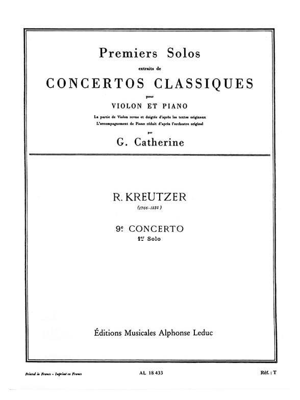 1er Solo du Concerto n° 9 Catherine - laflutedepan.com