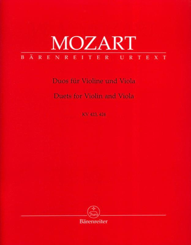 Duos für Violine und Viola KV 423, 424 - MOZART - laflutedepan.com