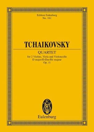 Streich-Quartett D-Dur, Op. 11 - Conducteur TCHAIKOVSKY laflutedepan