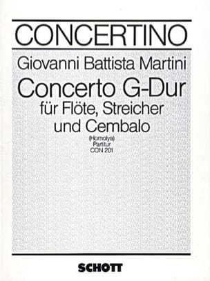 Concerto G-Dur für Flöte - Partitur laflutedepan