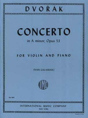 Concerto Violon op. 53 en la mineur DVORAK Partition laflutedepan