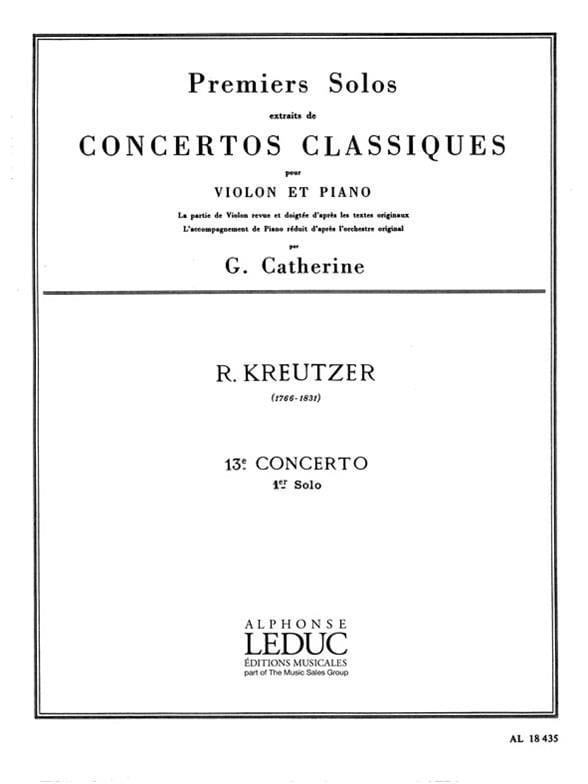 1er Solo du Concerto n° 13 Catherine - laflutedepan.com