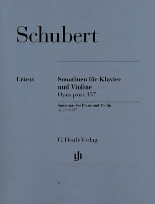 Sonatines pour violon op. post. 137 SCHUBERT Partition laflutedepan