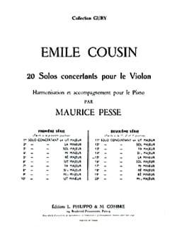 Solo concertant n° 15 en la mineur Emile Cousin Partition laflutedepan