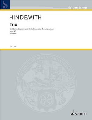 Trio Op. 47 HINDEMITH Partition Trios - laflutedepan
