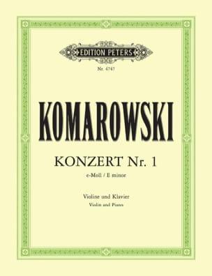 Concerto N°1 en Mi Mineur Anatoli Komarowski Partition laflutedepan