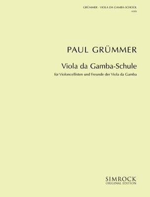 Méthode - Viola da gamba Paul Grümmer Partition laflutedepan