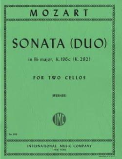 Sonata Duo in Bb major MOZART Partition Violoncelle - laflutedepan