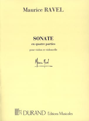 Sonate en Quatre Parties RAVEL Partition 0 - laflutedepan