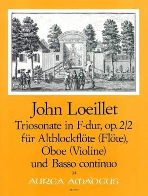 Sonata a Tre op. 2 n° 2 in F-Dur für Altblockflöte, Oboe und BC laflutedepan