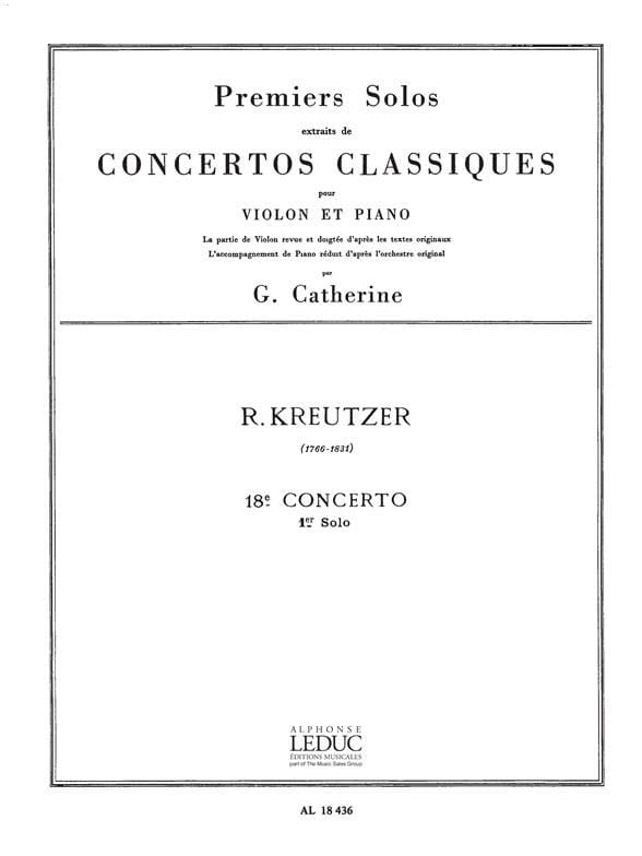 1er Solo du Concerto n° 18 Catherine - laflutedepan.com